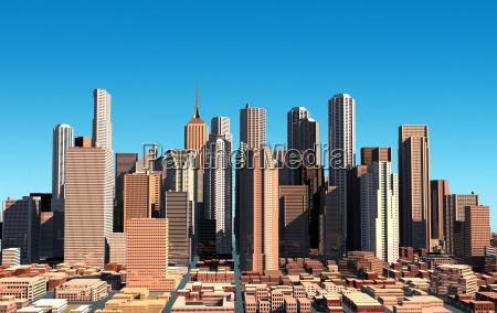 modern cityscape in daylight close up