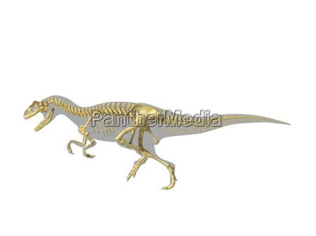 allosaurus dinosaur silhouette with photo realistic