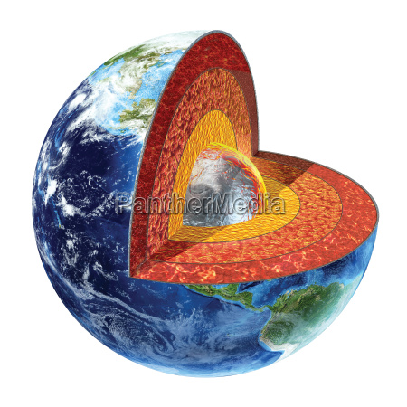 earth cross section inner core version