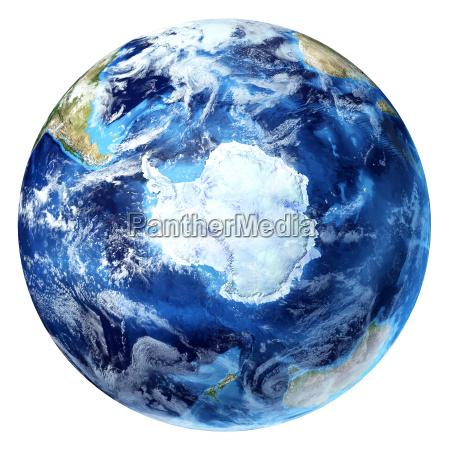 earth globe realistic 3 d rendering