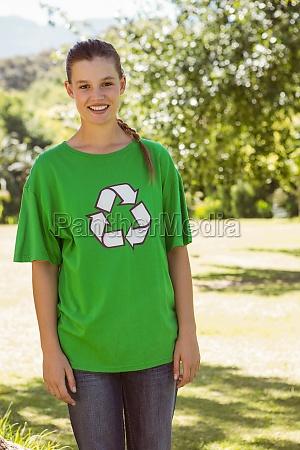 environmental activist smiling at camera in