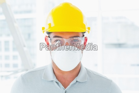 confident handyman wearing protective workwear