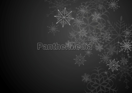 black and grey christmas background with