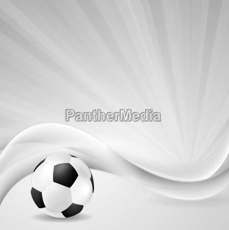 soccer background with abstract waves