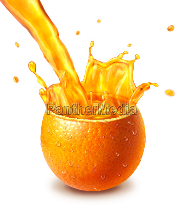 orange fresh fruit cut in half