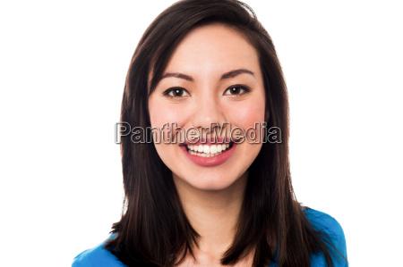 lovely smiling female model
