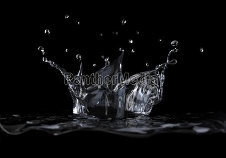 water crown splash viewed from a