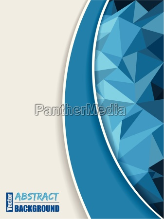 abstract blue brochure with polygons and