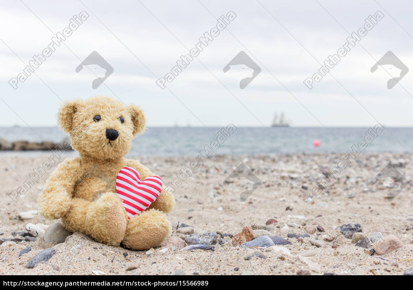 a, teddy, bear, with, my, heart - 15566989
