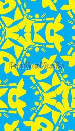 abstract yellow geometric pattern