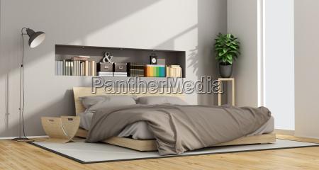 bright contemporary bedroom