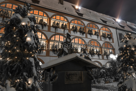 nachtaufname in regensburg in winter before