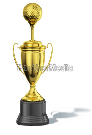 trophy cup with a tee and