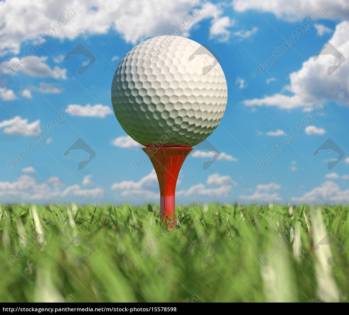 Golf Ball Isolated On Tee In The Grass Royalty Free Image 15578598 Panthermedia Stock Agency