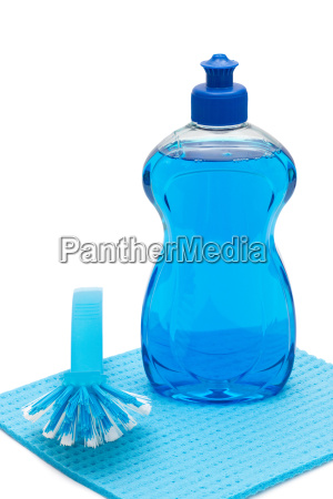 rinse aid with brush and cloth