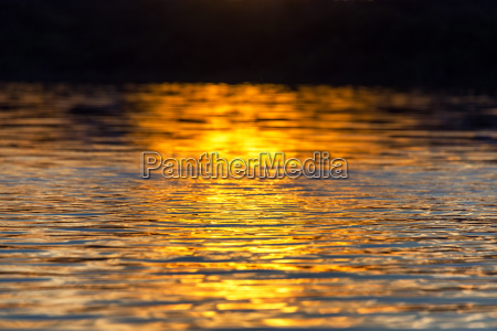 sunset reflection on water