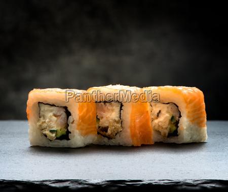 rolls on slate table