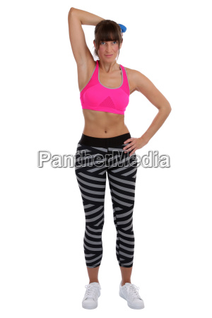 young fitness woman at sports workout