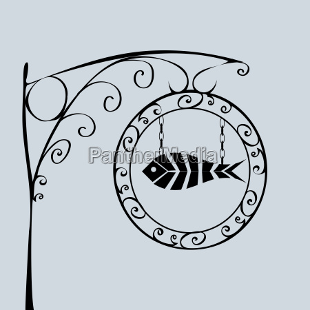 street sign fish shop
