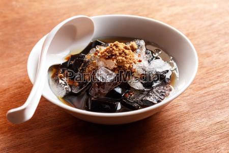 grass jelly dessert herbal gelatin chinese