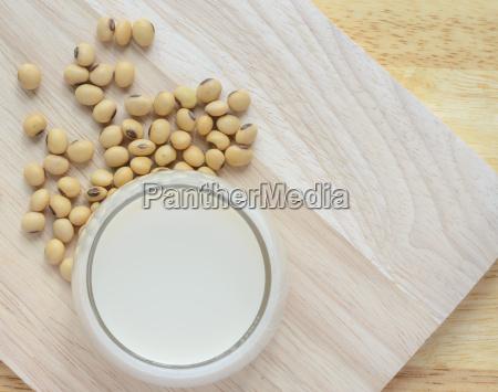fresh soy milk soya milk in