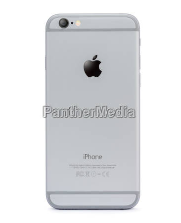 iphone 6 back side isolated on
