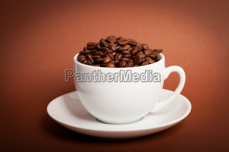 coffee beans in the cup on