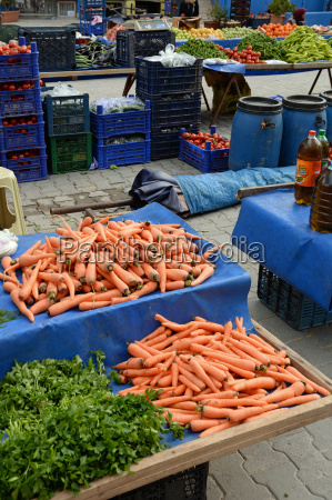 weekly market in kusadasi turkey
