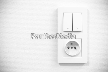light switch and socket in frame