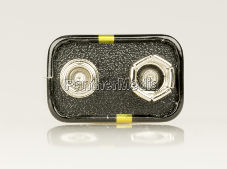9 volt battery close up