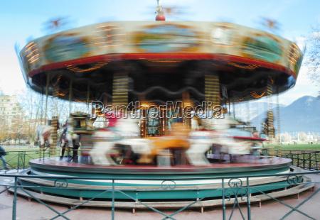 carousel merry go round while rounding