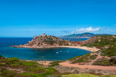 landscape coast summer sardinia island