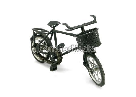 vintage black bicycle model for decoration