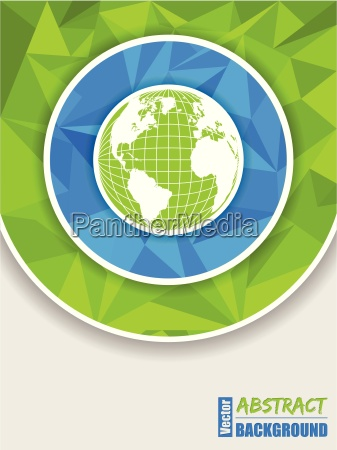 abstract green blue brochure