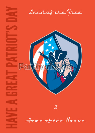 patriots day greeting card american patriot