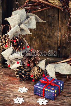 box with christmas present