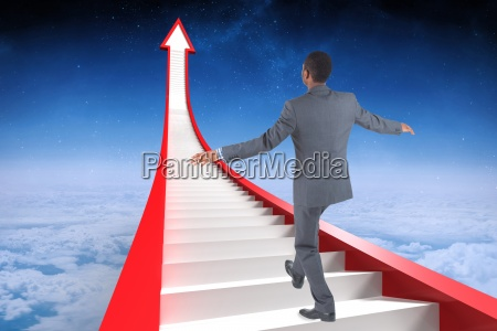 composite image of businessman performing a
