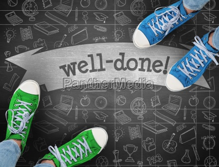 well done against black background