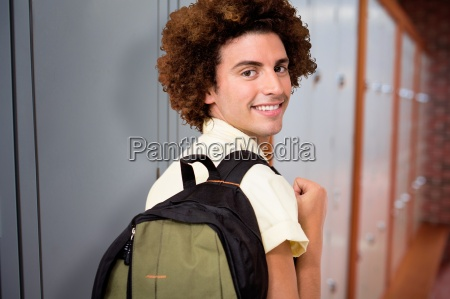 composite image of casual young man