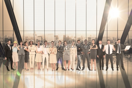 composite image of multiethnic business people