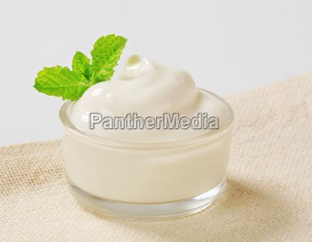 white cream in a bowl