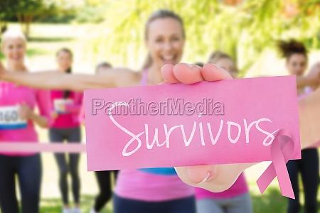 survivors against smiling women running for