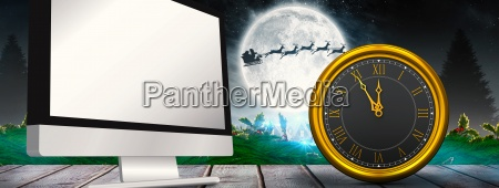 composite image of large clock