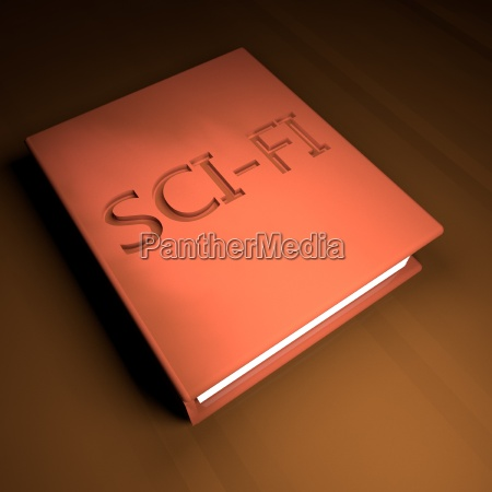 sci fi book with leather cover