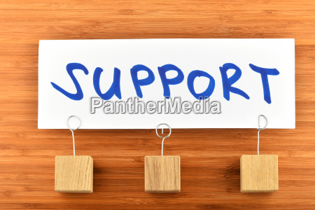 support one paper note on wooden