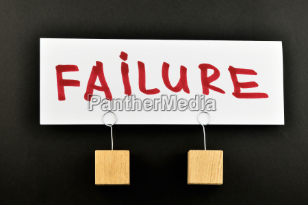 failure one big paper note red