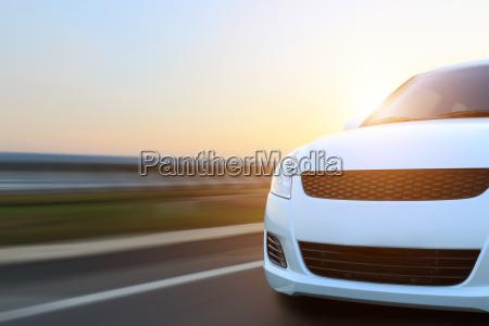 movement car speed on asphalt at