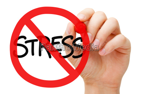 stress prohibition sign concept