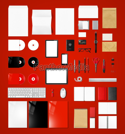 products branding mockup template red background
