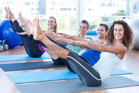 portrait of women in fitness center